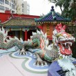 Colorful dragon sculpture in Repulse Bay Temple, Hong Kong — Stock Photo #34904433