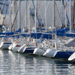 Rear view of sailboats at Shimizu port, Japan — Stock Photo