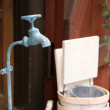 Colorful vintage water tap — Stock fotografie