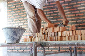Brick laying — Stock Photo