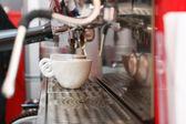 Making double shot espresso — Stock Photo