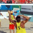 Beach volley competition - Foto de Stock