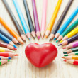 Royalty-Free Stock Photo: Heart and pencil