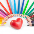 A big heart with a lot of colours — Stock Photo