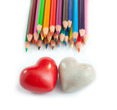 Two heart and a lot of colours — Stock Photo