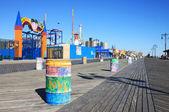 Coney Island boardwalk — Stock Photo