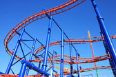 Roller-coaster in Coney Island — Stockfoto
