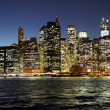 new york city med natt — Stockfoto
