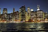 New York City by night — Stock Photo