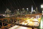 Traffic in the Brooklyn Bridge — Stock Photo