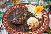 Mexican mole de huitlacoche — Stock Photo