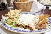 Enchiladas with cheese and bean — Stock Photo