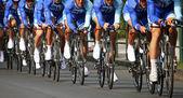 Chrono bicyclist — Stock Photo