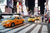 Traffic in Time Square, New York — Stock Photo