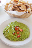 Mexican guacamole with tacos — Stock Photo