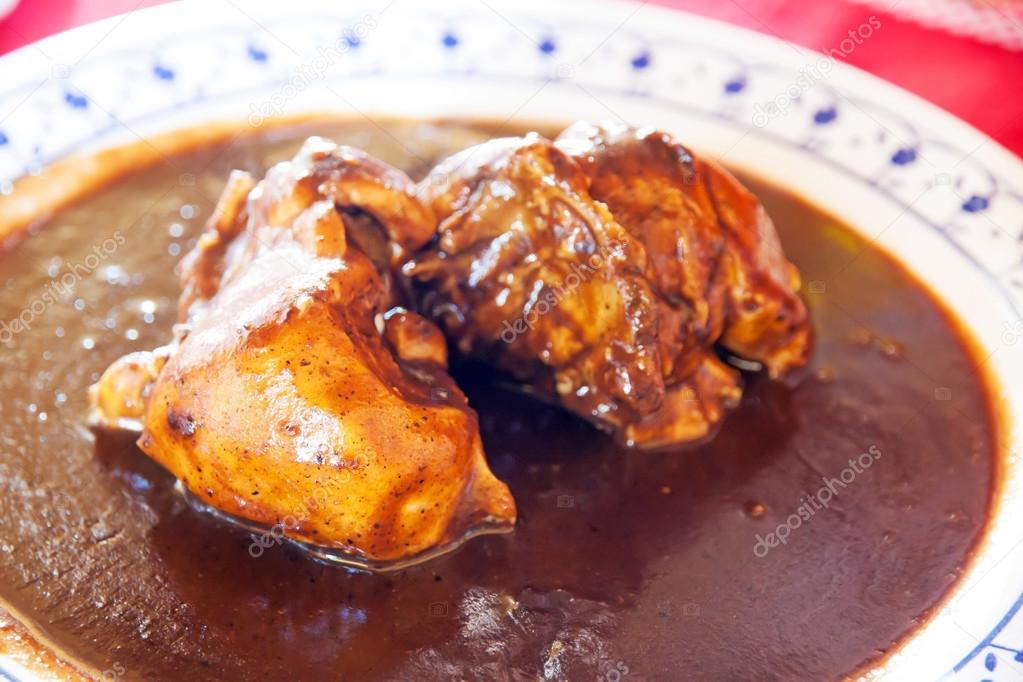 Mole de Pollo Mexicano Mexicano Pollo en Mole