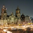 Stock Photo: Zocao by night, Mexico City