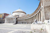 Piazza del Plebiscito, Naples, Italy — Stock Photo
