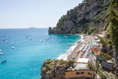 Positano beach, Costiera Amalfitana, Italy — Stock Photo
