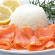 Salmon with rice — Stock Photo
