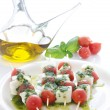 Caprese skewer — Stock Photo