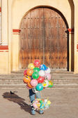 Selling Inflatable baloons — Stock Photo