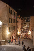 Dubrovnik by night — Stock Photo