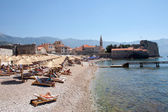 The old town of Budva in Montenegro — Stock Photo