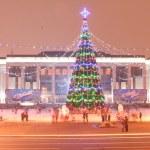 Main Christmass Tree of Minsk city. — Stock Photo #18332067