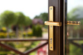 Repoussage doors with handle — Stockfoto