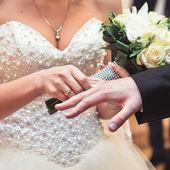Ring wedding dress — Zdjęcie stockowe