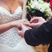 Ring wedding dress — Stockfoto