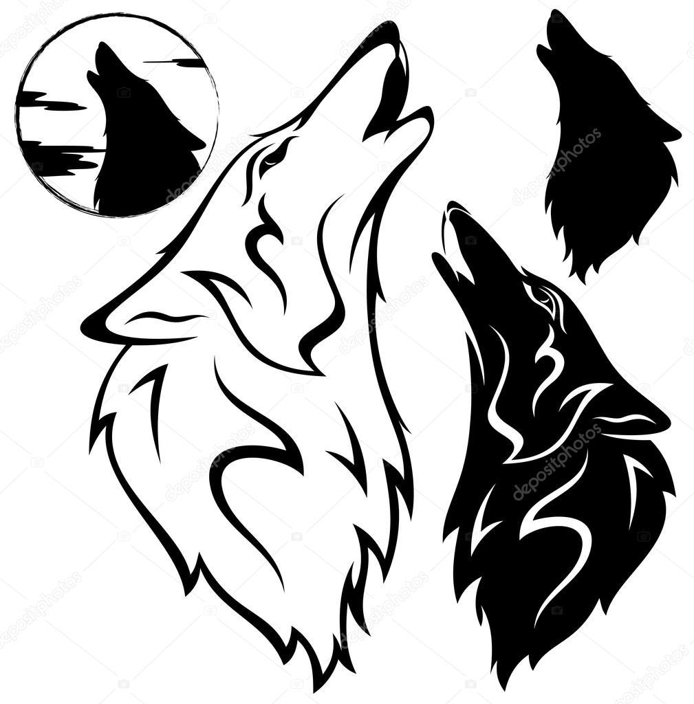 狼头— 图库矢量图像08