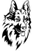 Cabeza de perro — Vector de stock