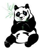 Panda bear — Stock Vector