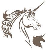 Unicorn head — Stock Vector