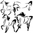 Stock Vector: Horse design