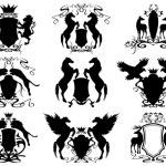 Heraldry set — Stock Vector