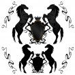 Horse heraldry - Vektorgrafik