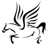 Flying horse — Stock Vector