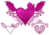 Winged heart — Stock Vector