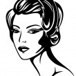 Royalty-Free Stock Vector Image: Retro beauty