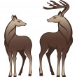 Royalty-Free Stock Vector Image: Beautiful deer