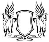 Pegasus emblem — Stock Vector