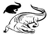 Krokodyl — Wektor stockowy