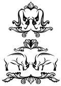 Toros vector elementos de diseño — Vector de stock