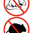 No rodents vector sign — Stock Vector