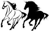 Running horse — Stock Vector