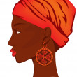 African beauty - Stock Vector
