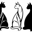 Royalty-Free Stock Imagem Vetorial: Sitting cats